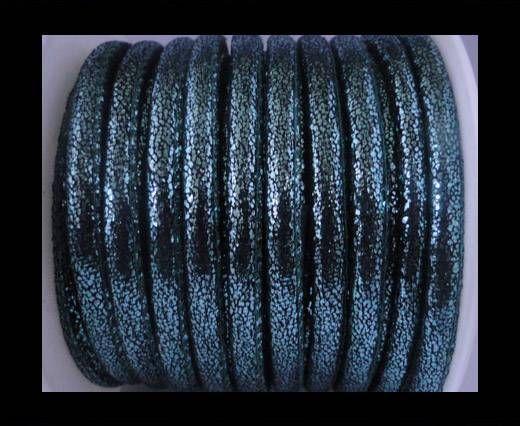 Cuir Nappa - 6mm - Glitter - Bleu Bermudes