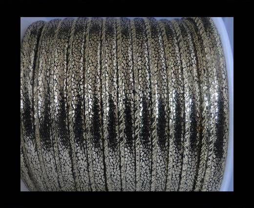 Cuir Nappa - 6mm - Glitter - Or