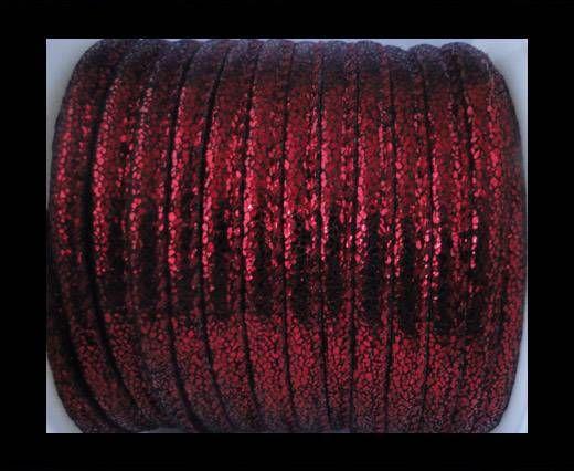 Cuir Nappa - 6mm - Glitter - Rouge