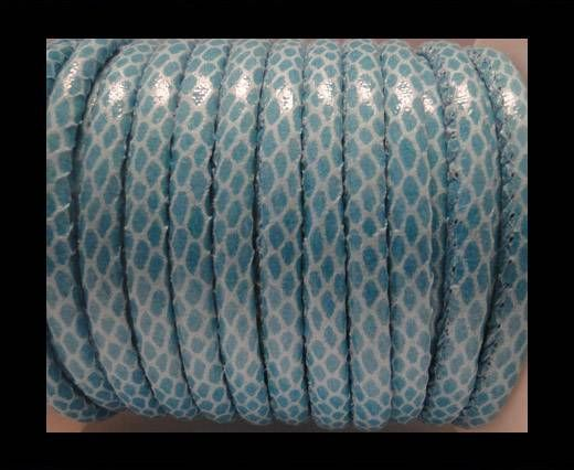 Cuir Nappa - 6mm - Snake Skin - Turquoise