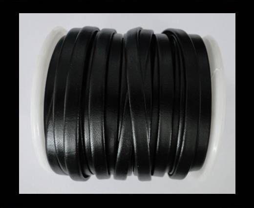 Cuir plat nappa éco - 5mm - Noir