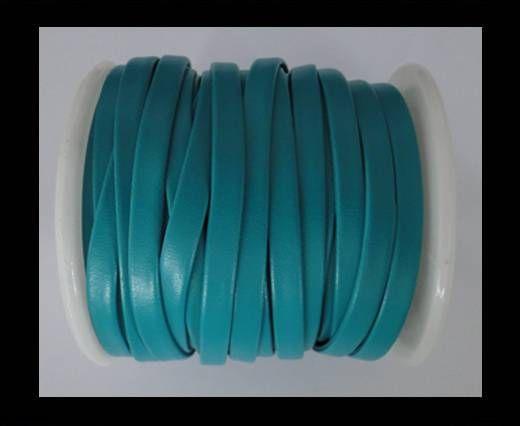 Cuir plat nappa éco - 5mm - Bleu Bermudes