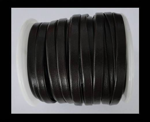 Cuir plat nappa éco - 5mm - Marron canard