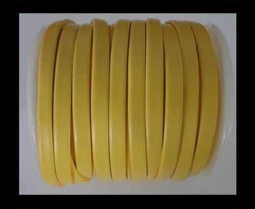 Cuir plat nappa éco - 5mm - Jaune