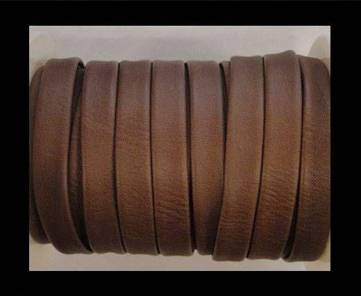 Cuir plat nappa éco - 10mm - Marron