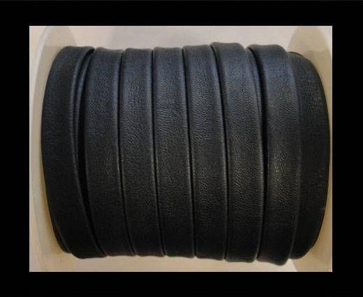 Cuir plat nappa éco - 10mm - Bleu foncé