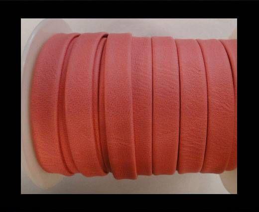 Cuir plat nappa éco - 10mm - Rose
