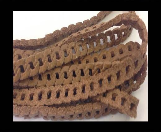 Nappa Leather - chain style - 5mm - Camel