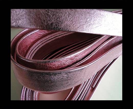 Nappa Leather Flat-Metallic Pink-20mm