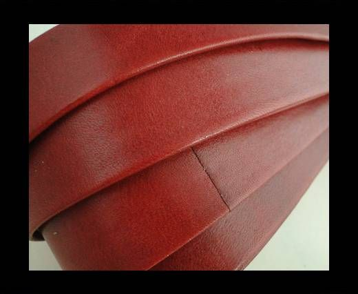Nappa Leather Flat-Red-20mm