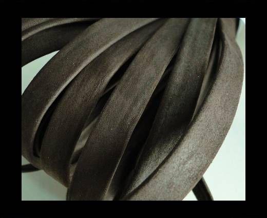 Nappa Leather Flat-Dark Brown-10mm