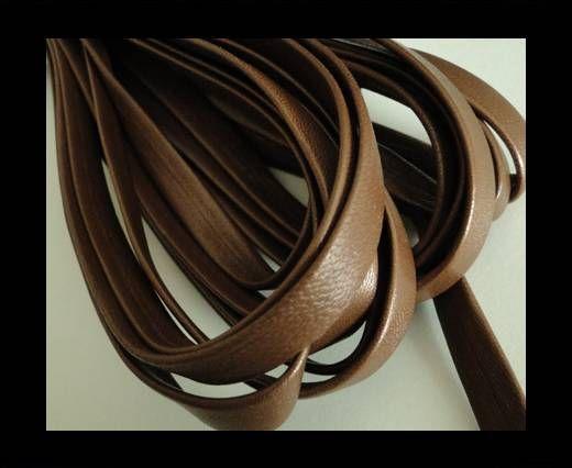 Nappa Leather Flat-Metallic Brown-10mm