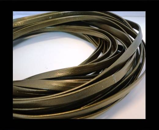 Nappa Leather Flat -Metallic Dark Olive Green-5mm