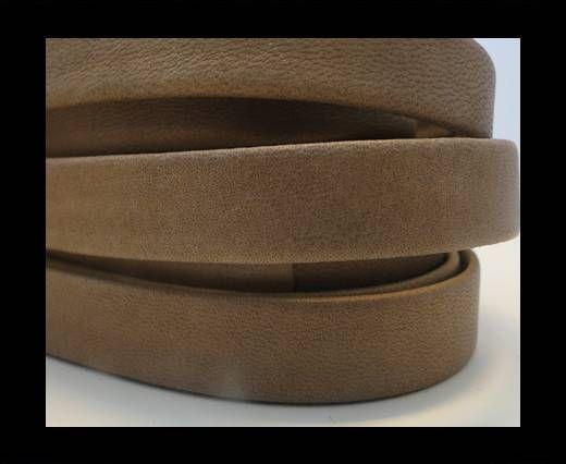 Nappa Leather Flat- Dark Beige-10mm