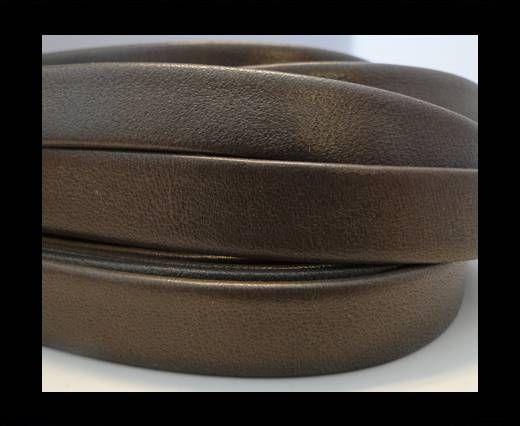 Nappa Leather Flat-Brown Dark Grey-10mm