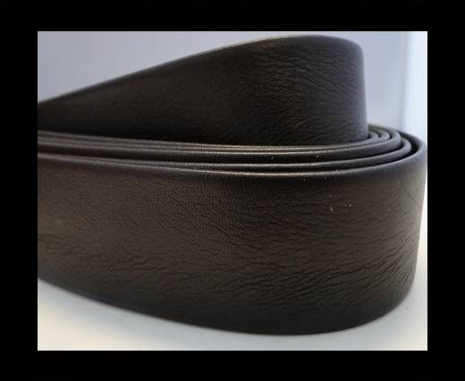 Nappa Leather Flat-Shiny Dark Brown-10mm