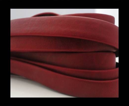 Nappa Leather Flat-Dark Red-10mm