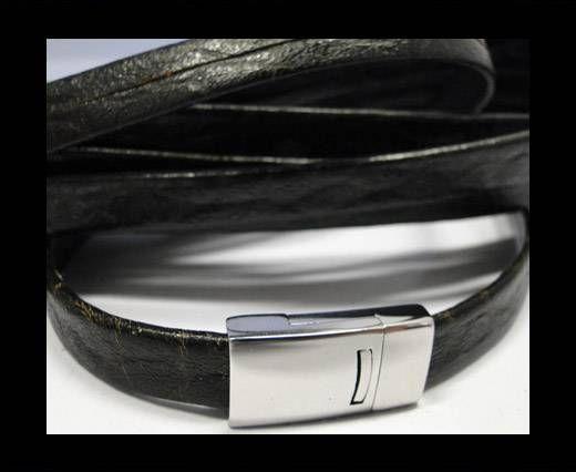 Nappa Leather Flat-vintage black-10mm