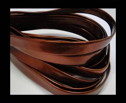 Nappa Leather Flat- Dark orange-10mm