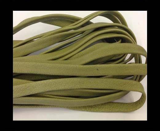 Nappa Leather Flat -pea green-5mm