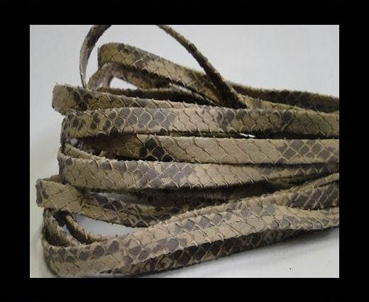 Nappa Leather Flat -5mm-Snake Style Beige