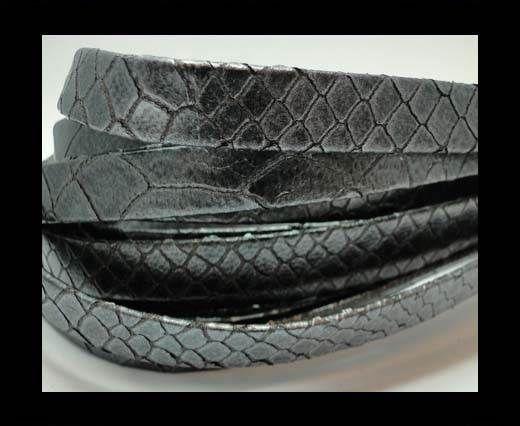 Nappa Leather Flat -10mm-Snake patch grey