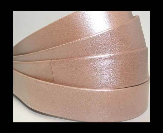 Nappa Leather Flat-Light Rose Gold-20mm