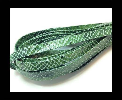 Nappa Leather Flat- Python  Green-10mm