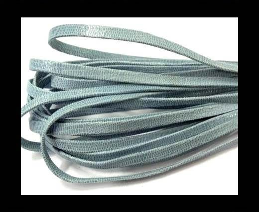 Nappa Leather Flat -5mm-Lizard Light Blue