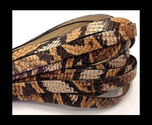 Italian Flat Leather 10mm by 2mm-Crocodile Tan