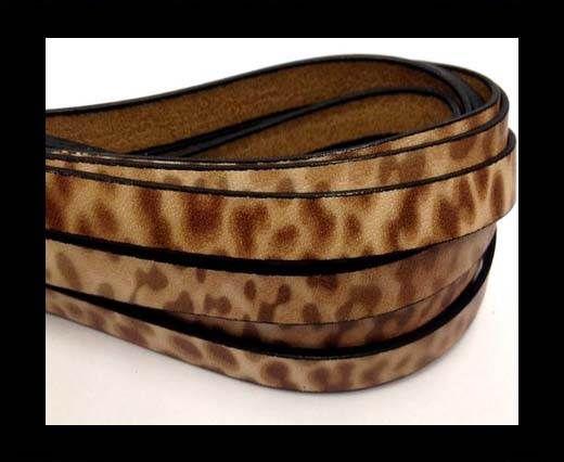 Italian Flat Leather 10mm by 2mm-Leopard Tan