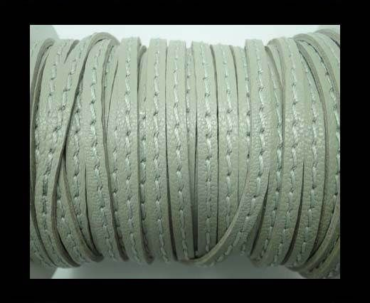 Nappa Leather with middle stitch -5mm -LIGHT GREY
