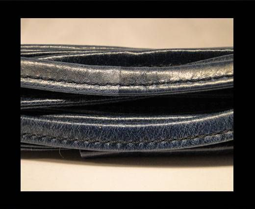 Cuir Nappa - Sewn - 7mm - Bleu