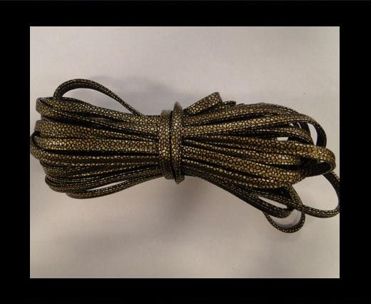 Cuir Nappa - Sewn - 7mm - Or
