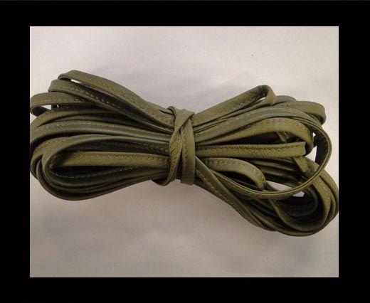Cuir Nappa - Sewn - 7mm - Olive