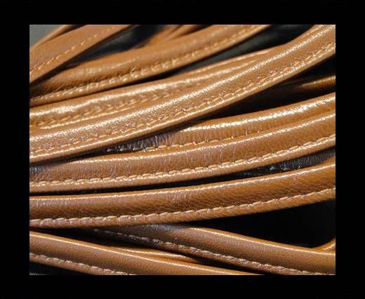 Cuir Nappa - Sewn - 7mm - Snake - Brique foncée