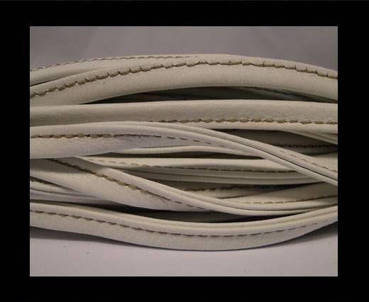 Cuir Nappa - Sewn - 7mm - Blanc et jaune