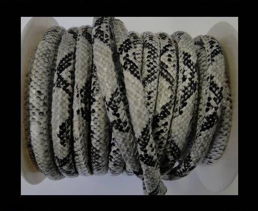 Cuir Nappa - 6mm - Snake Style - Blanc