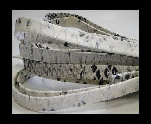 nappa snake style beige black 10 mm