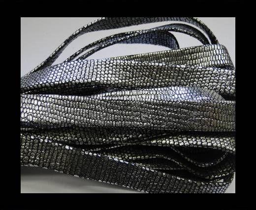NappaFlat-10mm-snake style silver