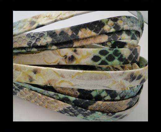 Cuir Nappa plat - 10mm - EMU - Snake - Coloré