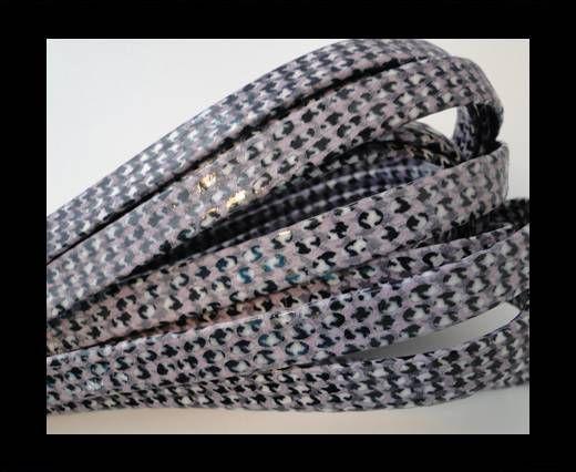 Cuir Nappa plat - 10mm - Grass Snake - Violet