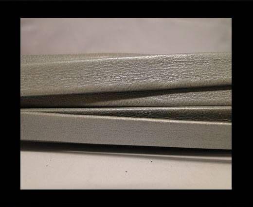 Cuir Nappa plat - 10mm - Gris