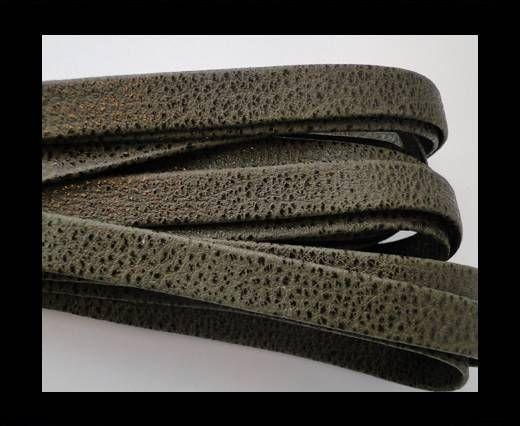 Cuir Nappa plat - 10mm - Lizard Snake - Vert
