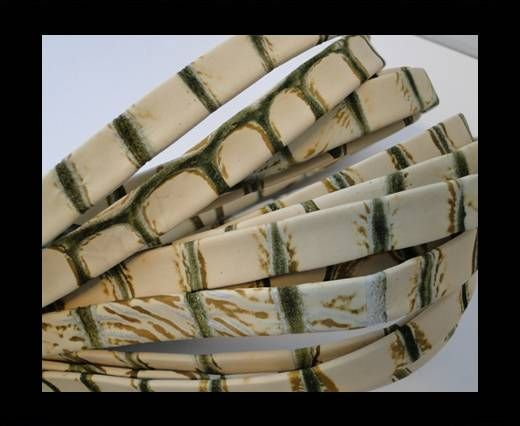 Cuir Nappa plat - 10mm - Snake - Light Grass