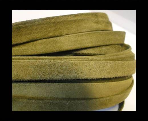 Cuir Nappa plat - 10mm - Vert en daim