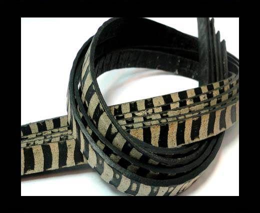 NappaFlat-Vintage - Zebra Style- White -10mm