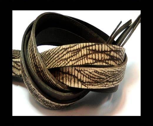 NappaFlat-Vintage Crocidle Style  Brown -10mm