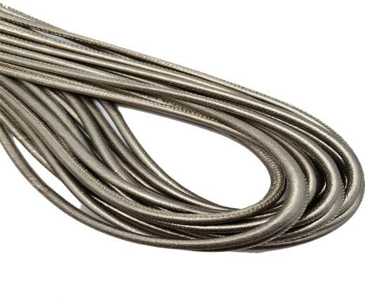 Round Stitched Nappa Leather Cord-4mm-old platinum