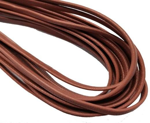 Flat Nappa Leather cords - 5mm - old rose